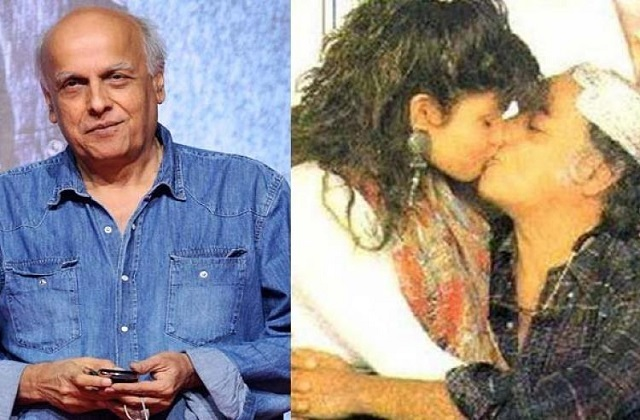 Mahesh Bhatt kissing his own daughter Pooja Bhatt