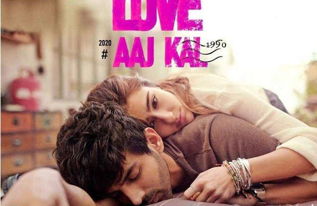 poster of Love aaj kal 2 Sara and Kartik